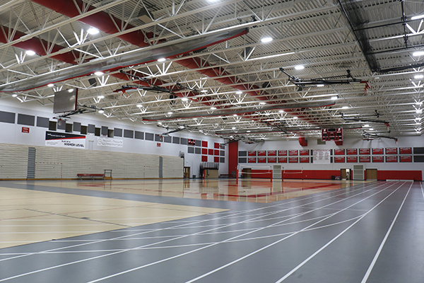 School gym using LED lighting